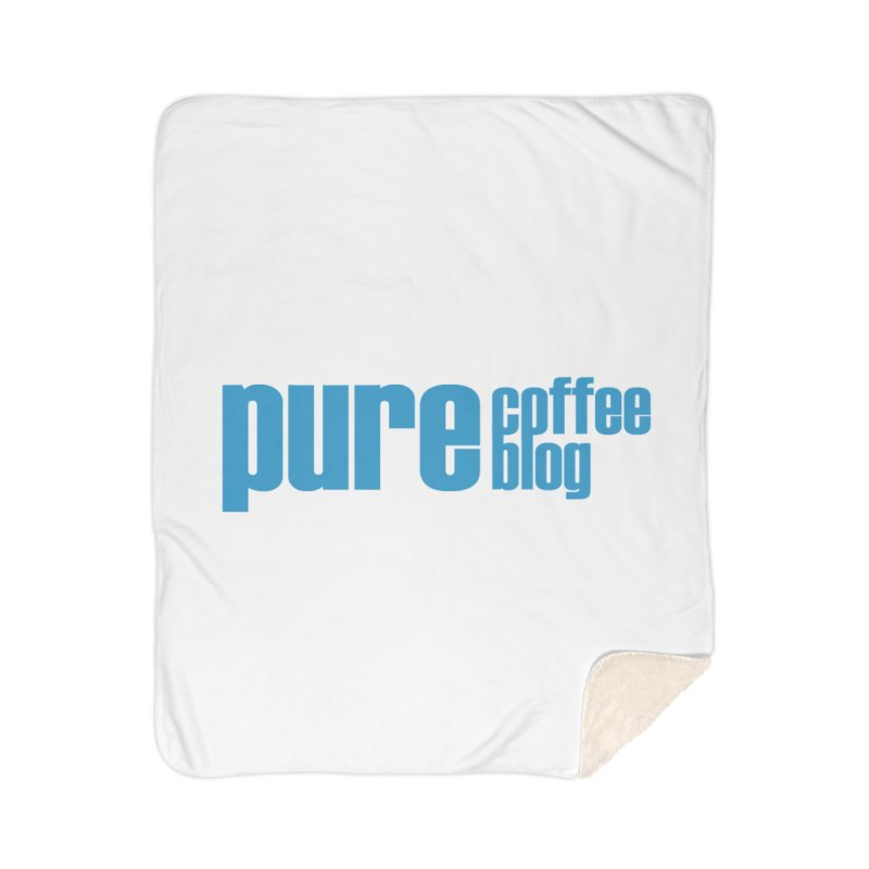 PCB Classic - blue text Home Blanket by Pure Coffee Blog Shop