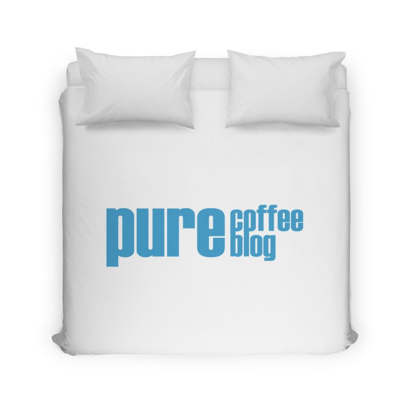 PCB Classic - blue text Home Duvet by Pure Coffee Blog Shop