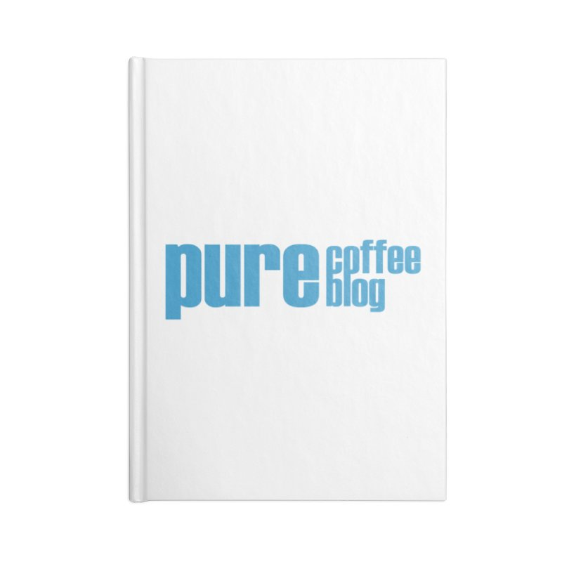 PCB Classic - blue text Accessories Blank Journal Notebook by Pure Coffee Blog Shop