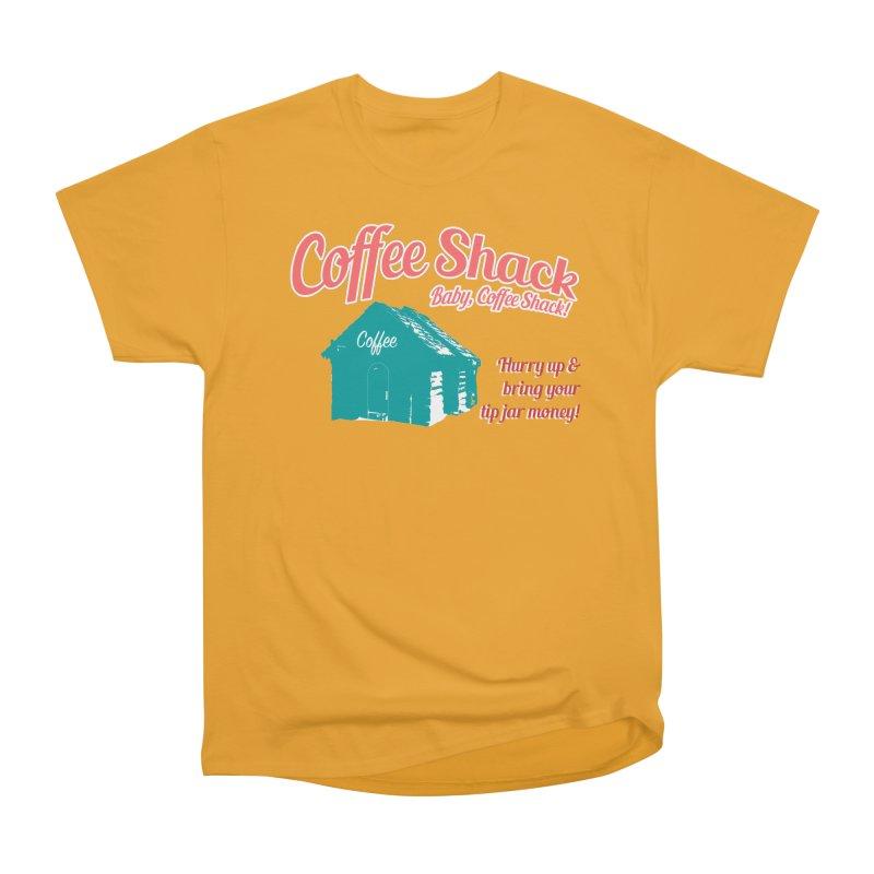 Coffee Shack, Baby Coffee Shack! Women's Heavyweight Unisex T-Shirt by Pure Coffee Blog Shop