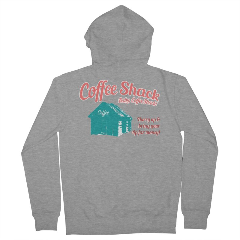 Coffee Shack, Baby Coffee Shack! Women's French Terry Zip-Up Hoody by Pure Coffee Blog Shop