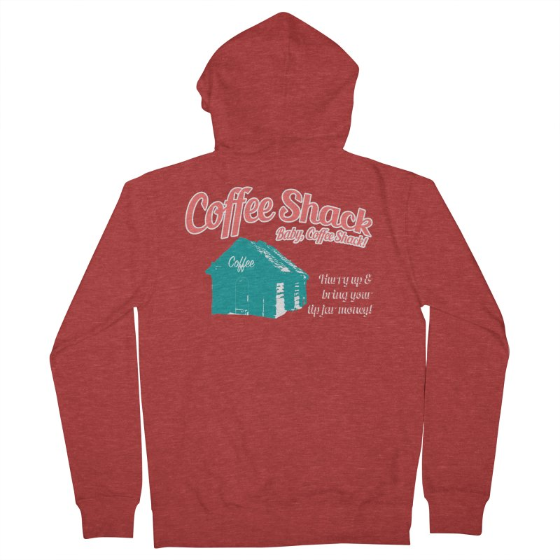 Coffee Shack, Baby Coffee Shack! Men's French Terry Zip-Up Hoody by Pure Coffee Blog Shop