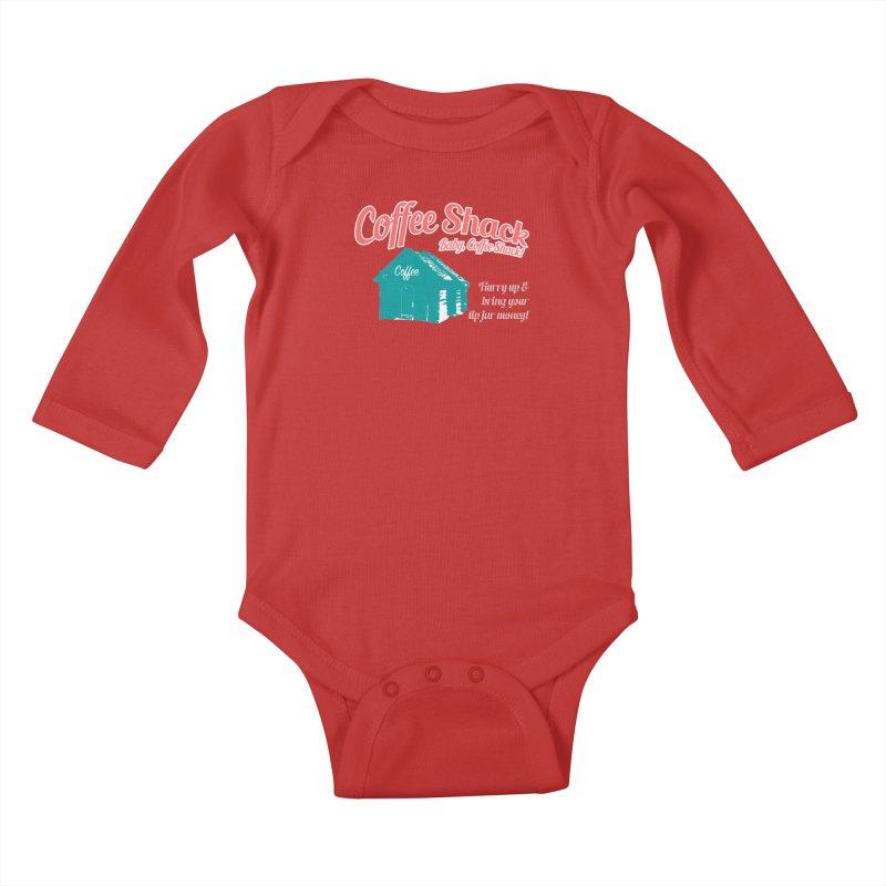 Coffee Shack, Baby Coffee Shack! Kids Baby Longsleeve Bodysuit by Pure Coffee Blog Shop