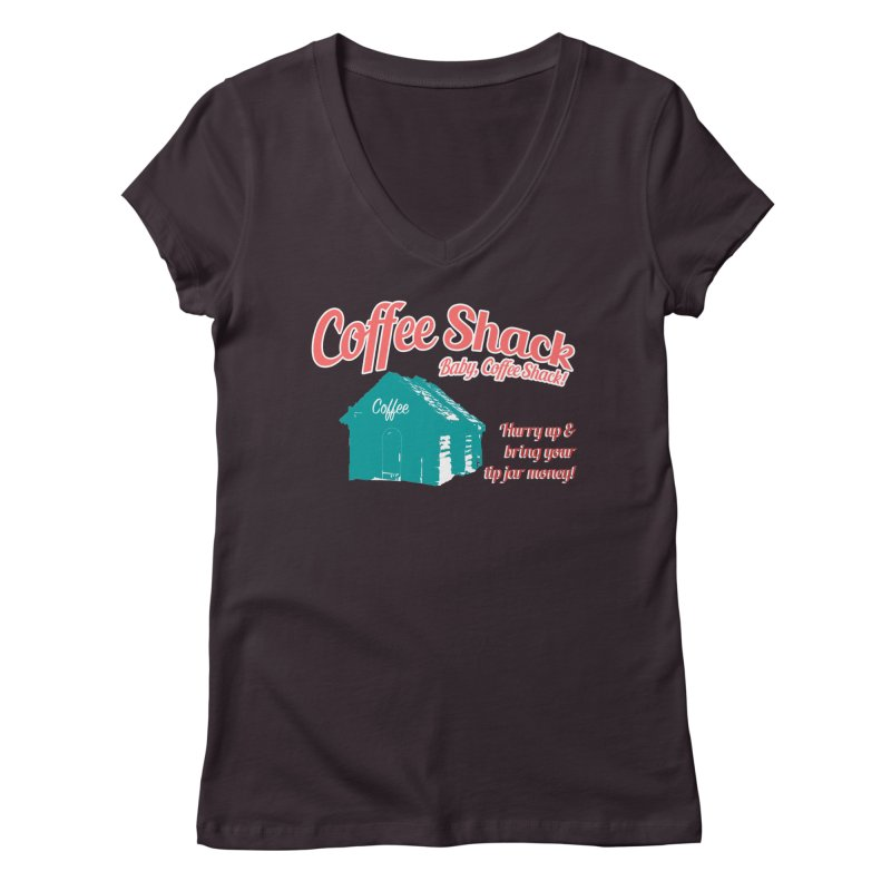 Coffee Shack, Baby Coffee Shack! Women's V-Neck by Pure Coffee Blog Shop