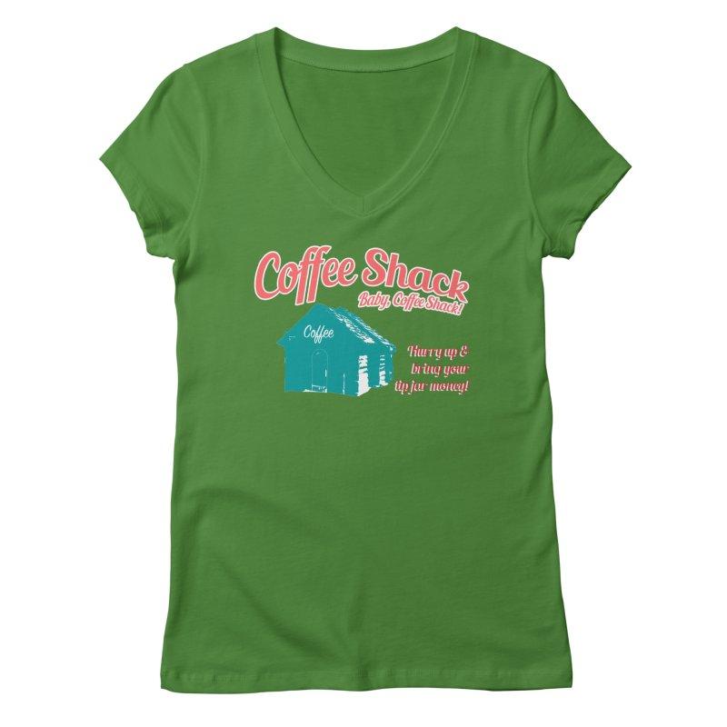 Coffee Shack, Baby Coffee Shack! Women's Regular V-Neck by Pure Coffee Blog Shop