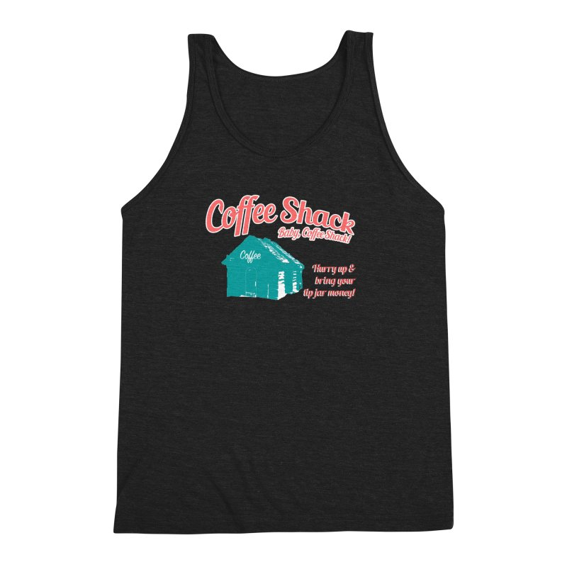 Coffee Shack, Baby Coffee Shack! Men's Triblend Tank by Pure Coffee Blog Shop