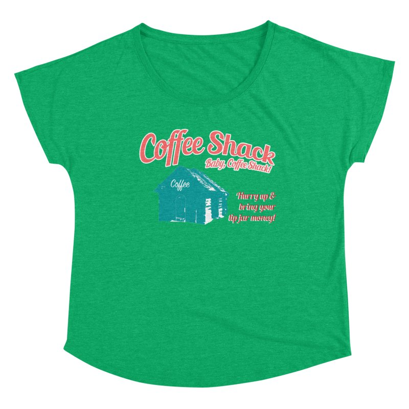 Coffee Shack, Baby Coffee Shack! Women's Scoop Neck by Pure Coffee Blog Shop