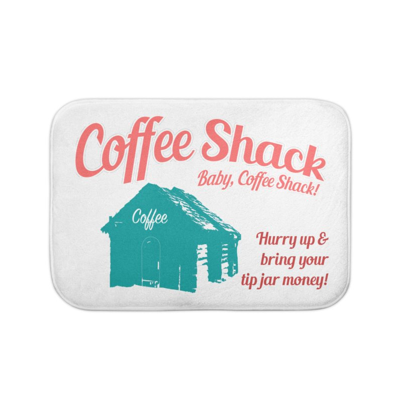 Coffee Shack, Baby Coffee Shack! Home Bath Mat by Pure Coffee Blog Shop