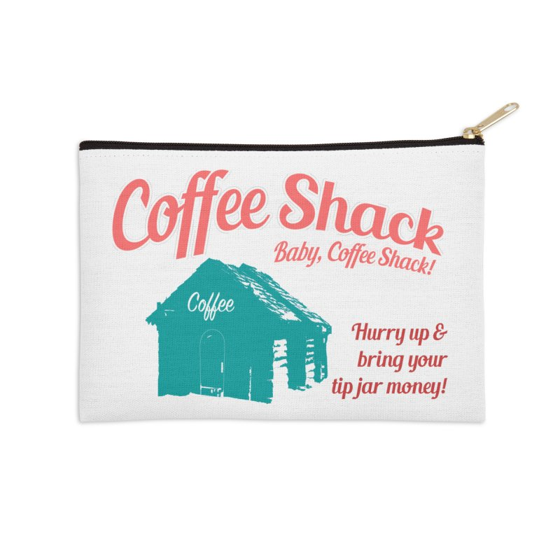 Coffee Shack, Baby Coffee Shack! Accessories Zip Pouch by Pure Coffee Blog Shop