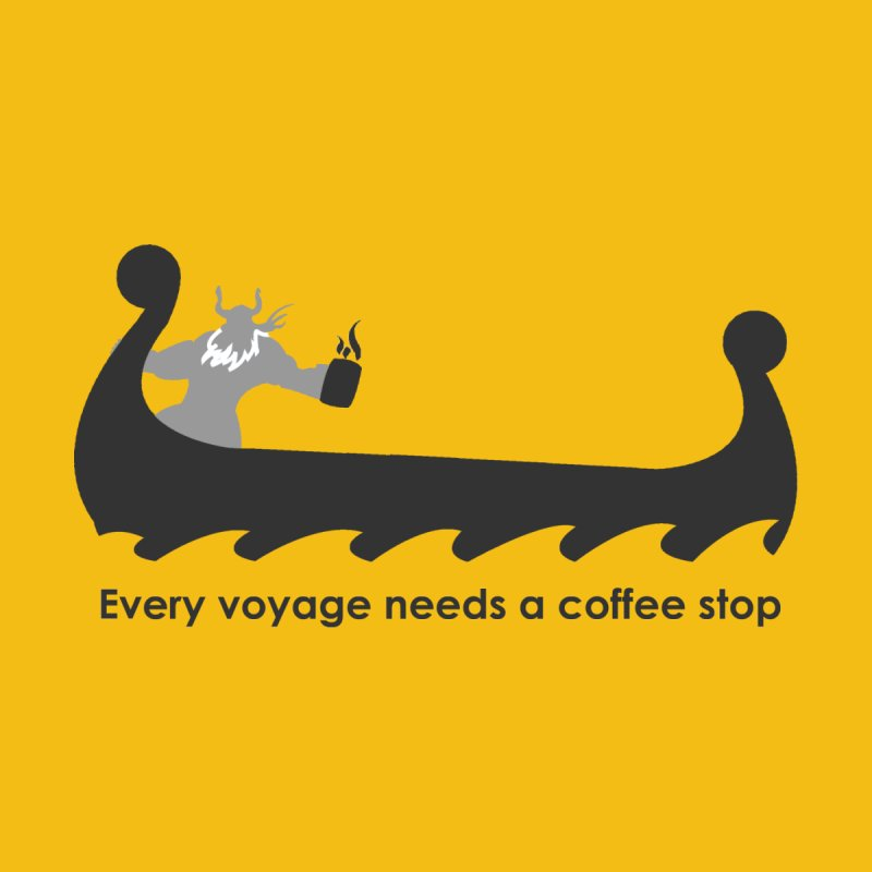 Coffee Voyage - B&W Men's T-Shirt by Pure Coffee Blog Shop