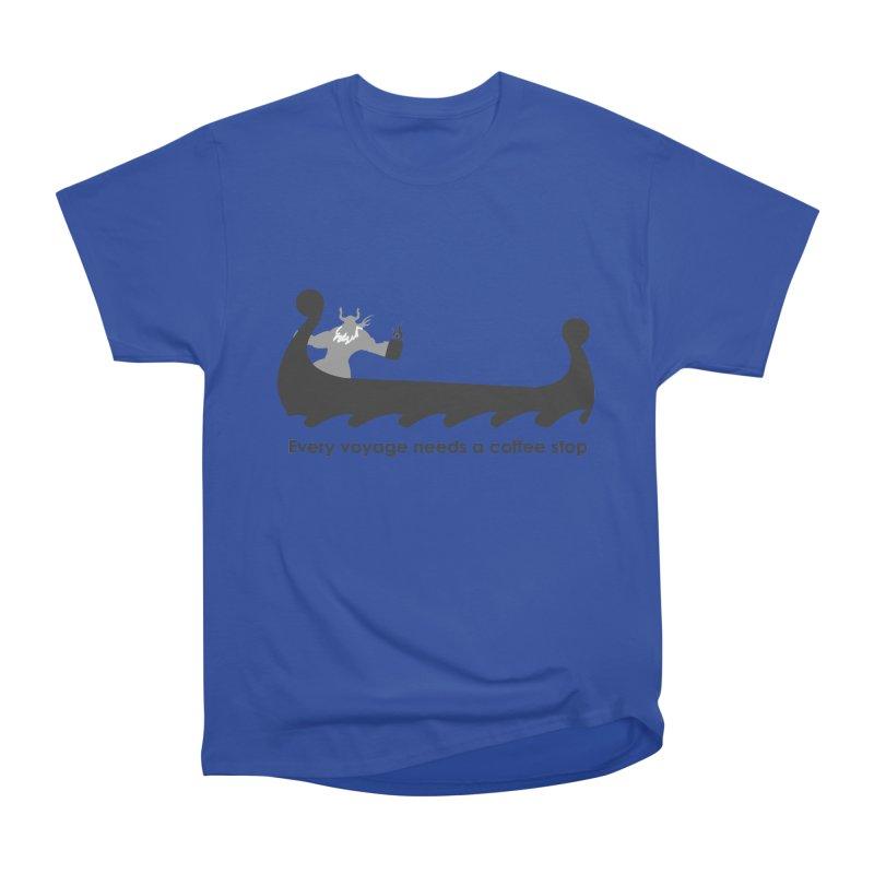 Coffee Voyage - B&W Women's Heavyweight Unisex T-Shirt by Pure Coffee Blog Shop