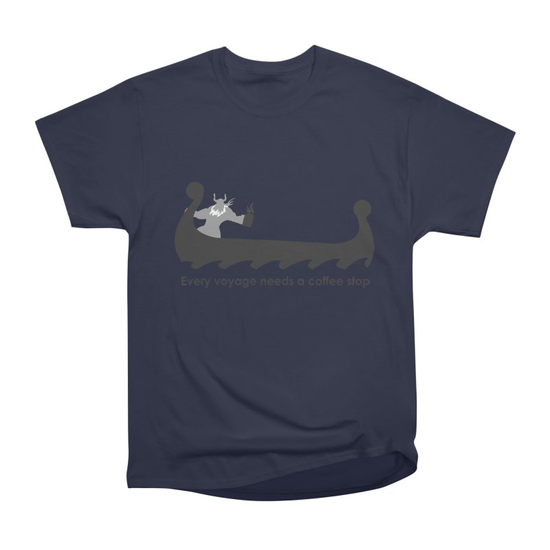 Coffee Voyage - B&W Men's Heavyweight T-Shirt by Pure Coffee Blog Shop