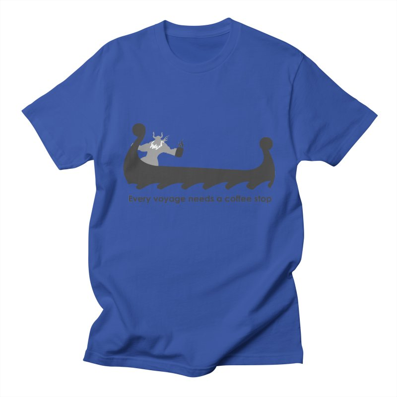 Coffee Voyage - B&W Men's Regular T-Shirt by Pure Coffee Blog Shop