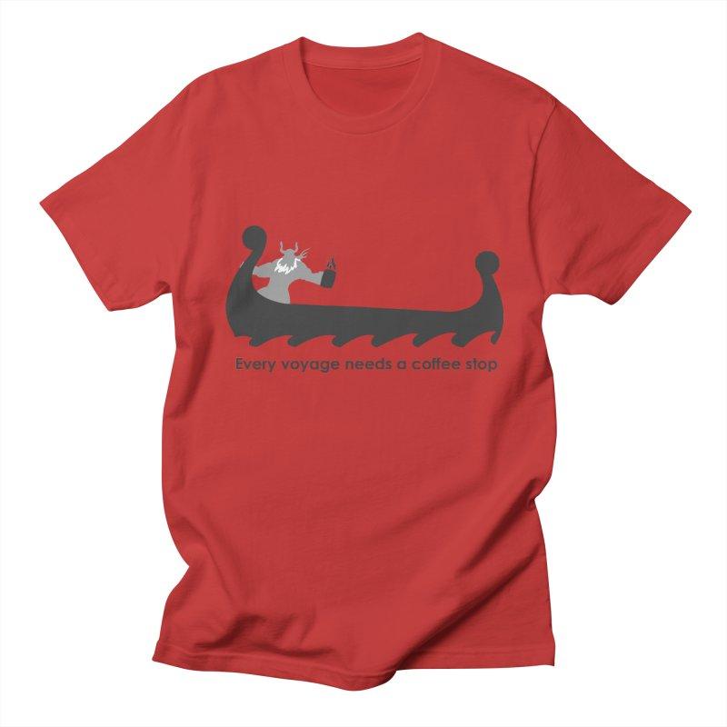 Coffee Voyage - B&W Men's T-Shirt by Pure Coffee Blog Shop