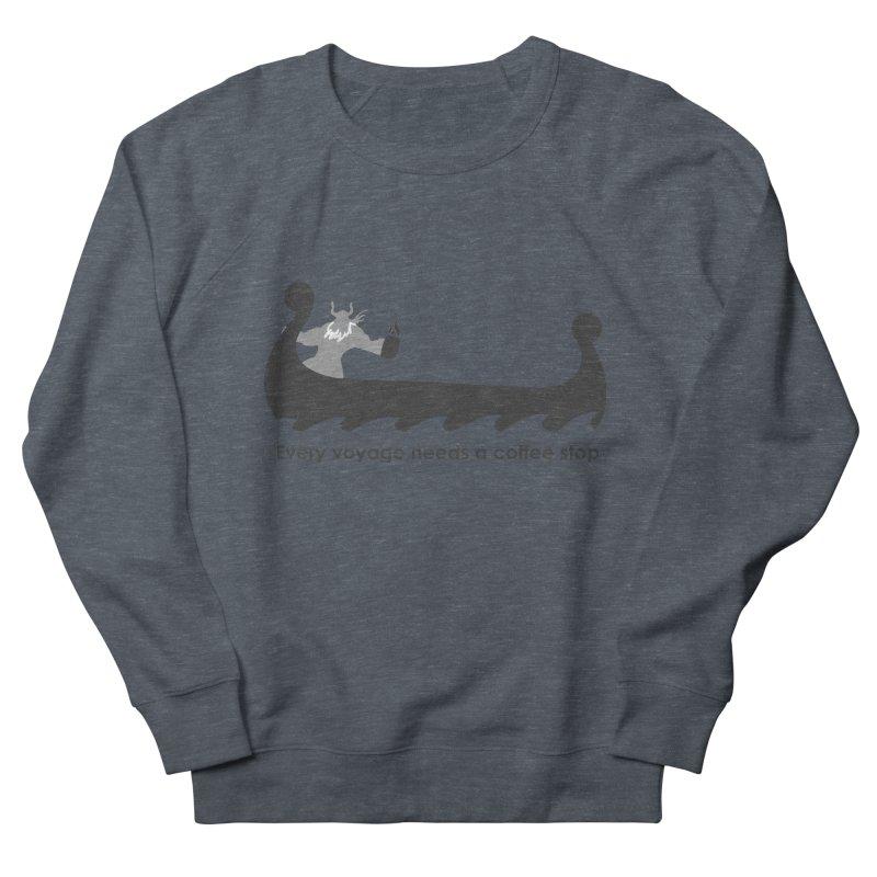 Coffee Voyage - B&W Women's French Terry Sweatshirt by Pure Coffee Blog Shop
