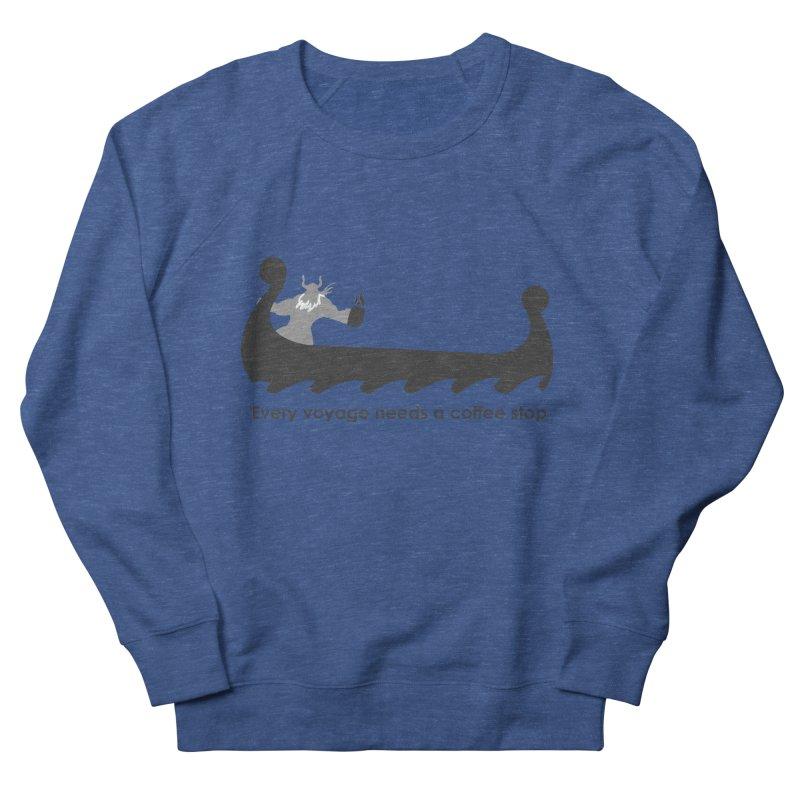 Coffee Voyage - B&W Men's Sweatshirt by Pure Coffee Blog Shop