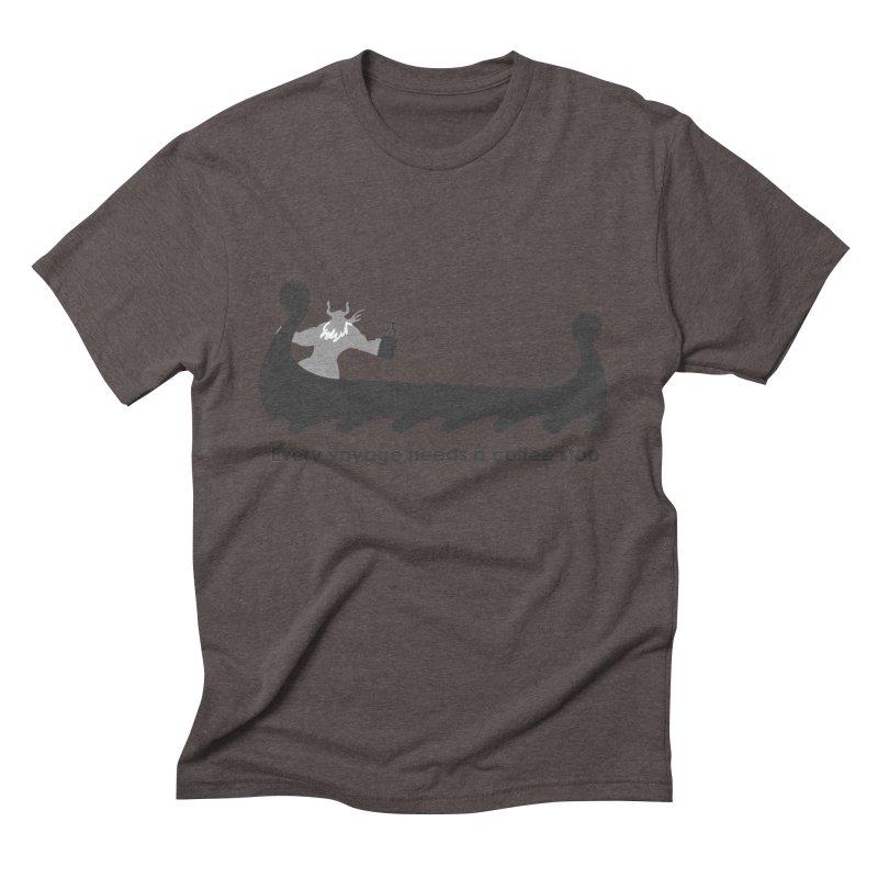 Coffee Voyage - B&W Men's Triblend T-Shirt by Pure Coffee Blog Shop