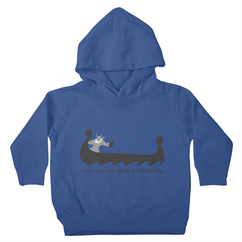 Coffee Voyage - B&W Kids Toddler Pullover Hoody by Pure Coffee Blog Shop