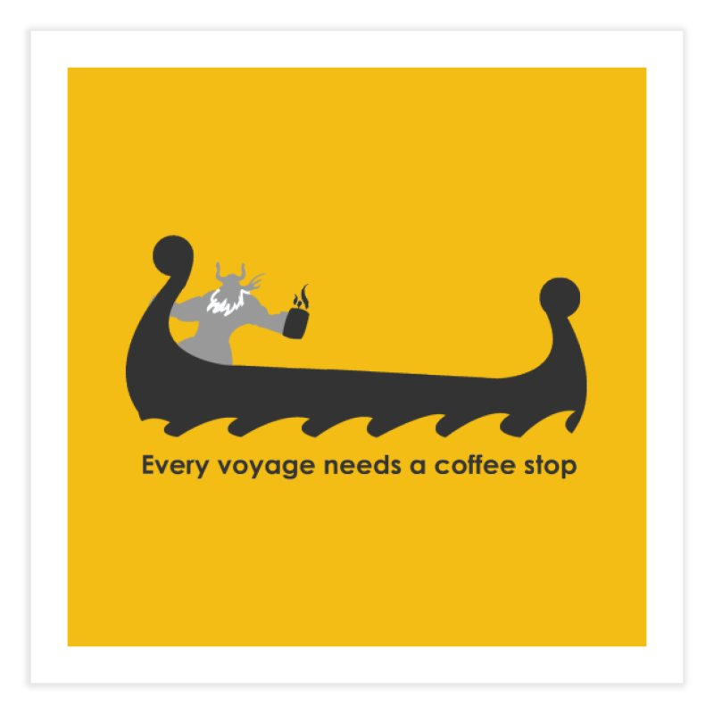 Coffee Voyage - B&W Home Fine Art Print by Pure Coffee Blog Shop
