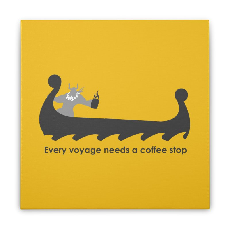 Coffee Voyage - B&W Home Stretched Canvas by Pure Coffee Blog Shop
