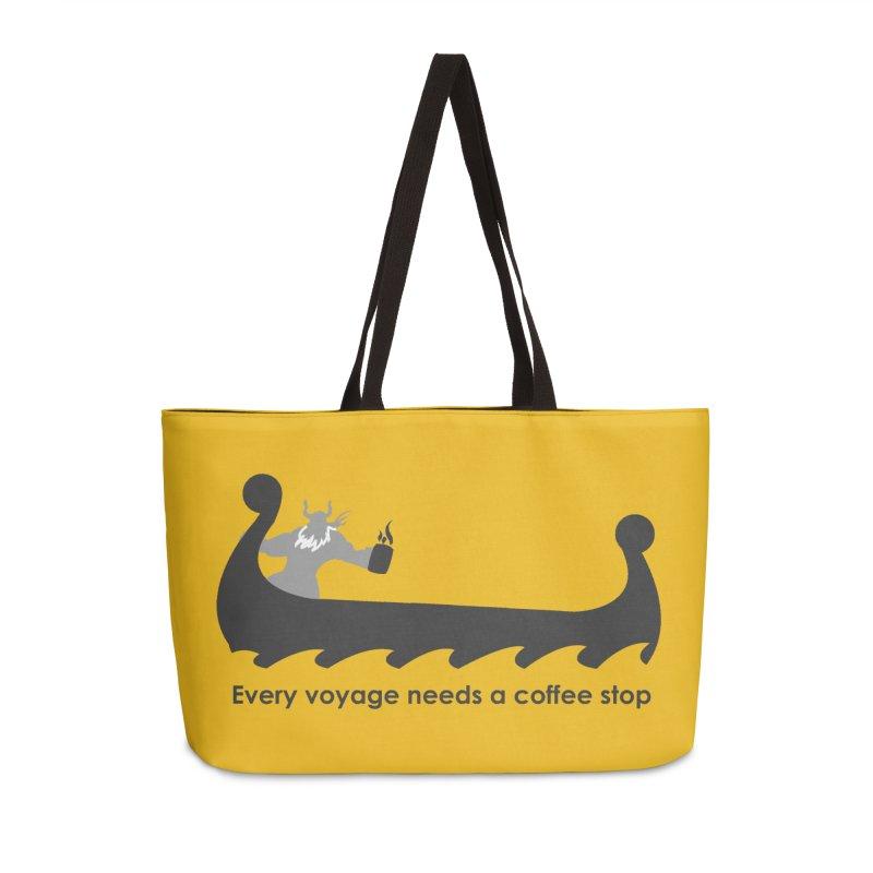 Coffee Voyage - B&W Accessories Bag by Pure Coffee Blog Shop