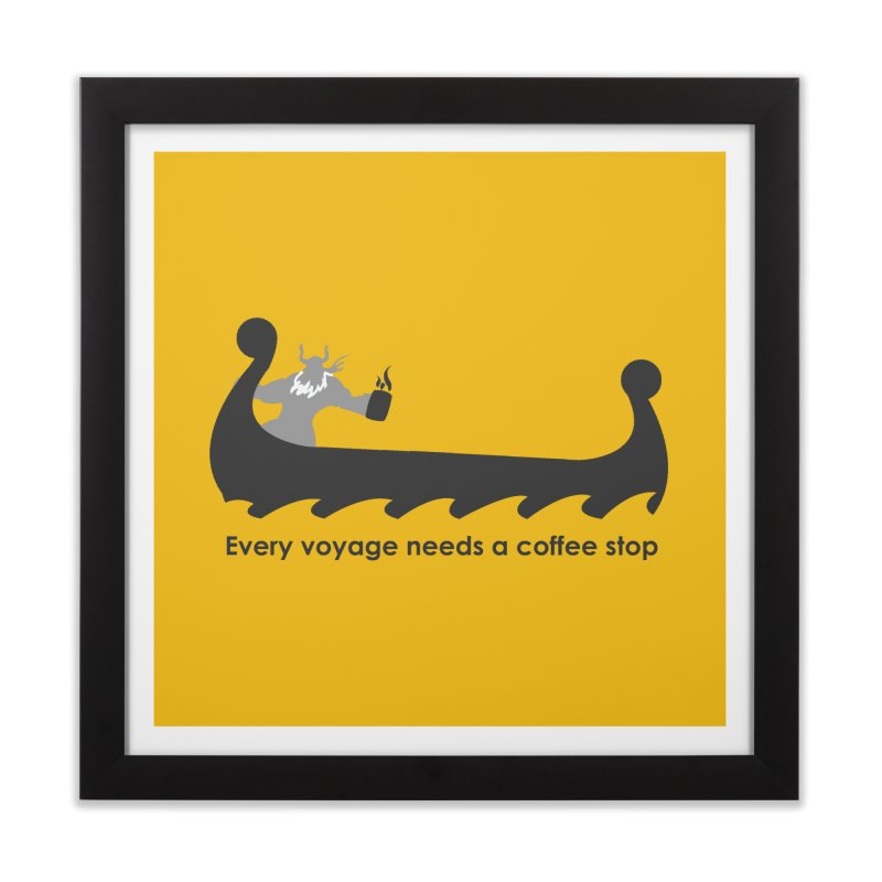 Coffee Voyage - B&W Home Framed Fine Art Print by Pure Coffee Blog Shop