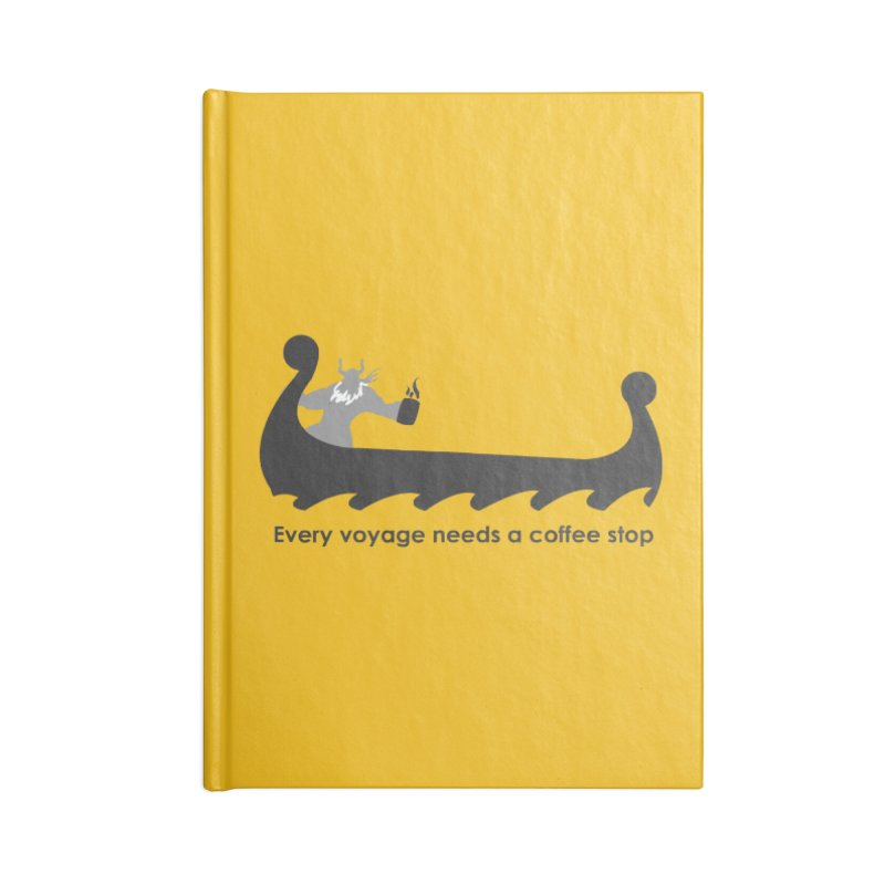 Coffee Voyage - B&W Accessories Notebook by Pure Coffee Blog Shop