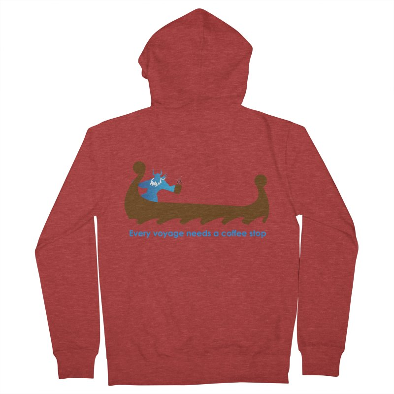 Coffee Voyage - In Color Men's French Terry Zip-Up Hoody by Pure Coffee Blog Shop