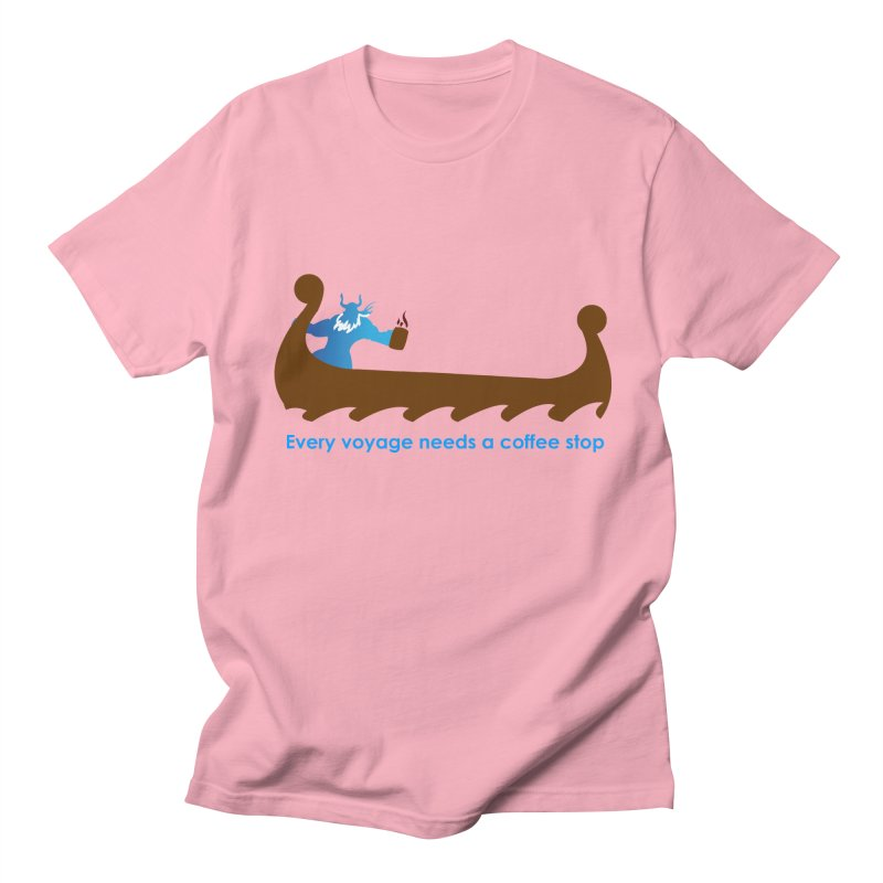 Coffee Voyage - In Color Men's Regular T-Shirt by Pure Coffee Blog Shop