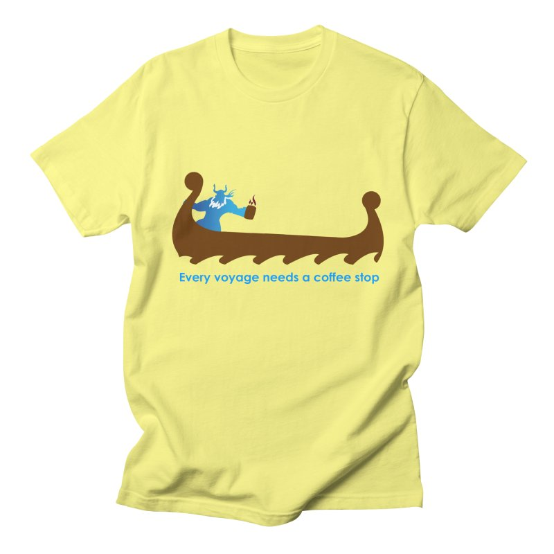 Coffee Voyage - In Color Women's Regular Unisex T-Shirt by Pure Coffee Blog Shop