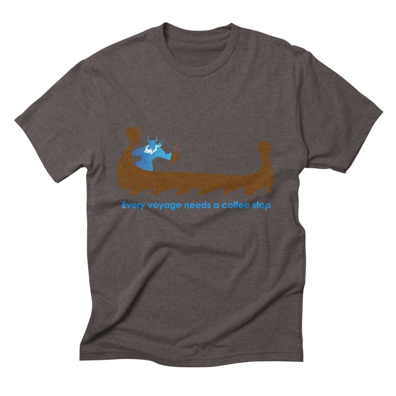 Coffee Voyage - In Color Men's Triblend T-Shirt by Pure Coffee Blog Shop