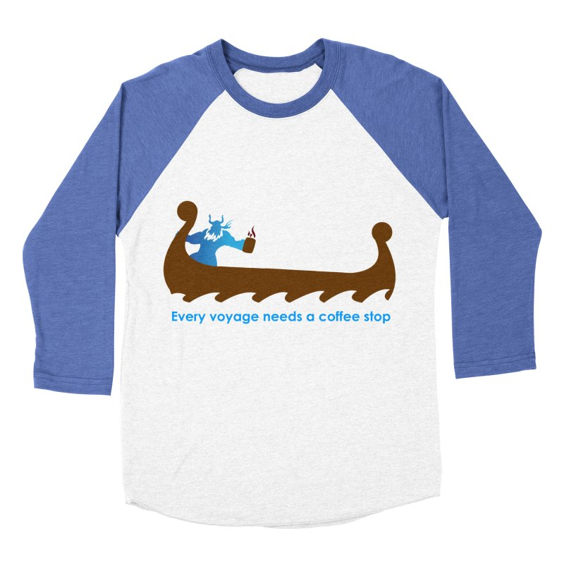 Coffee Voyage - In Color Men's Baseball Triblend Longsleeve T-Shirt by Pure Coffee Blog Shop