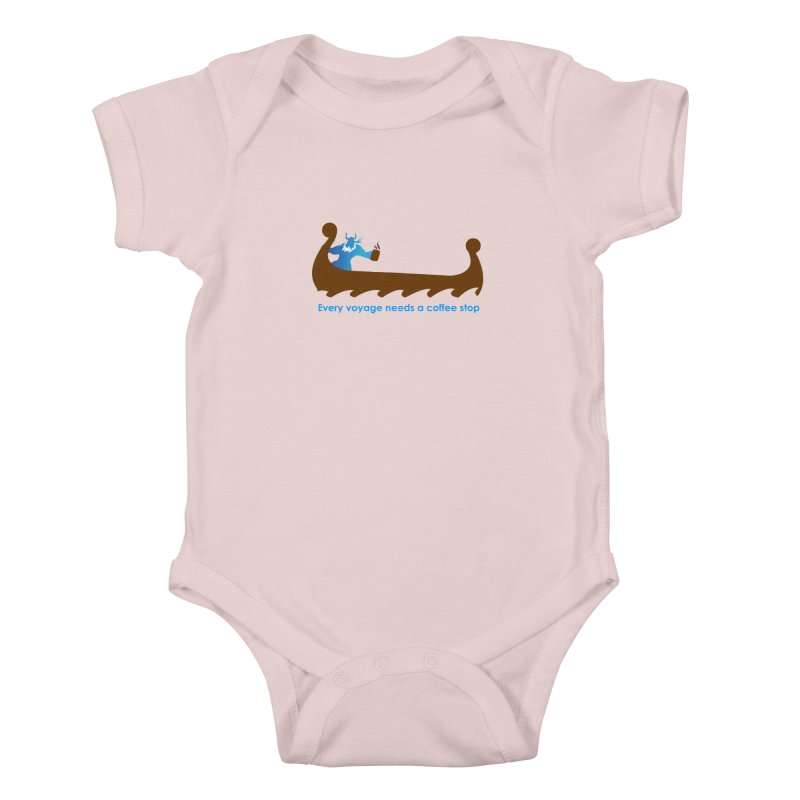 Coffee Voyage - In Color Kids Baby Bodysuit by Pure Coffee Blog Shop