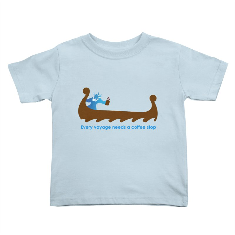 Coffee Voyage - In Color Kids Toddler T-Shirt by Pure Coffee Blog Shop
