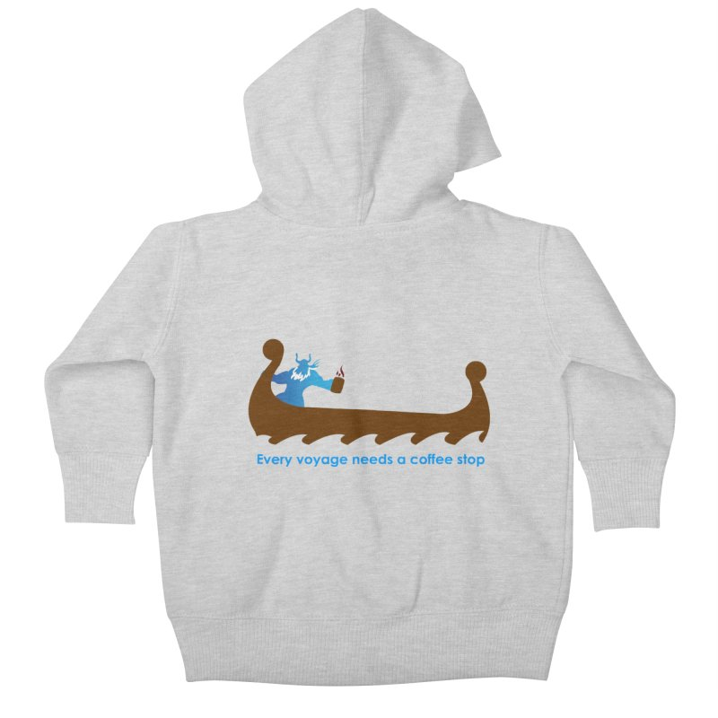 Coffee Voyage - In Color Kids Baby Zip-Up Hoody by Pure Coffee Blog Shop