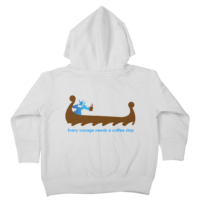 Coffee Voyage - In Color Kids Toddler Zip-Up Hoody by Pure Coffee Blog Shop