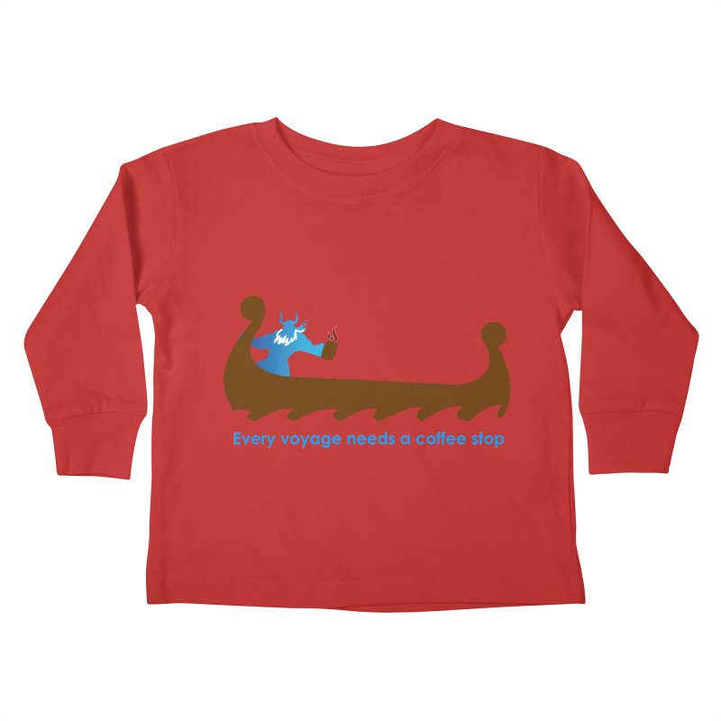 Coffee Voyage - In Color Kids Toddler Longsleeve T-Shirt by Pure Coffee Blog Shop