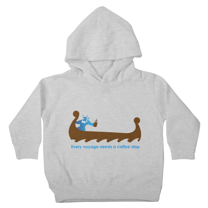 Coffee Voyage - In Color Kids Toddler Pullover Hoody by Pure Coffee Blog Shop