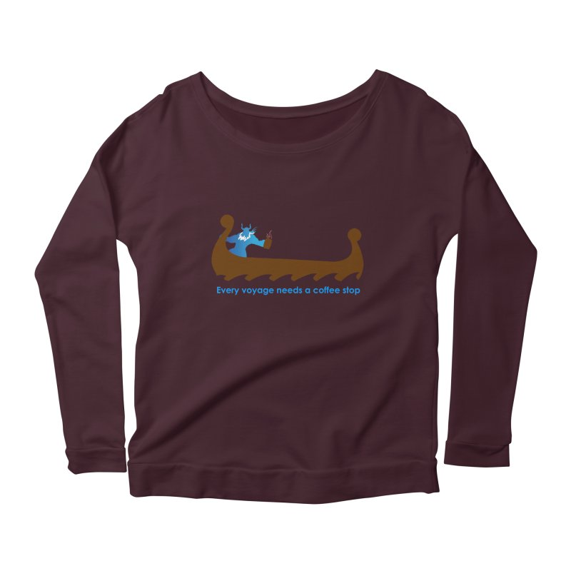 Coffee Voyage - In Color Women's Scoop Neck Longsleeve T-Shirt by Pure Coffee Blog Shop