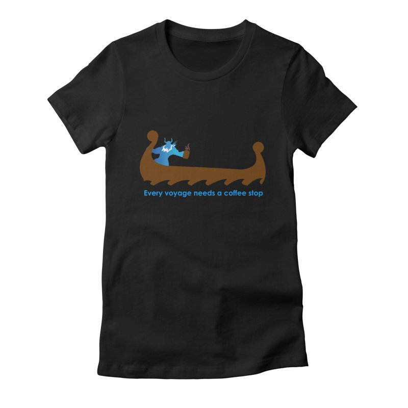 Coffee Voyage - In Color Women's Fitted T-Shirt by Pure Coffee Blog Shop