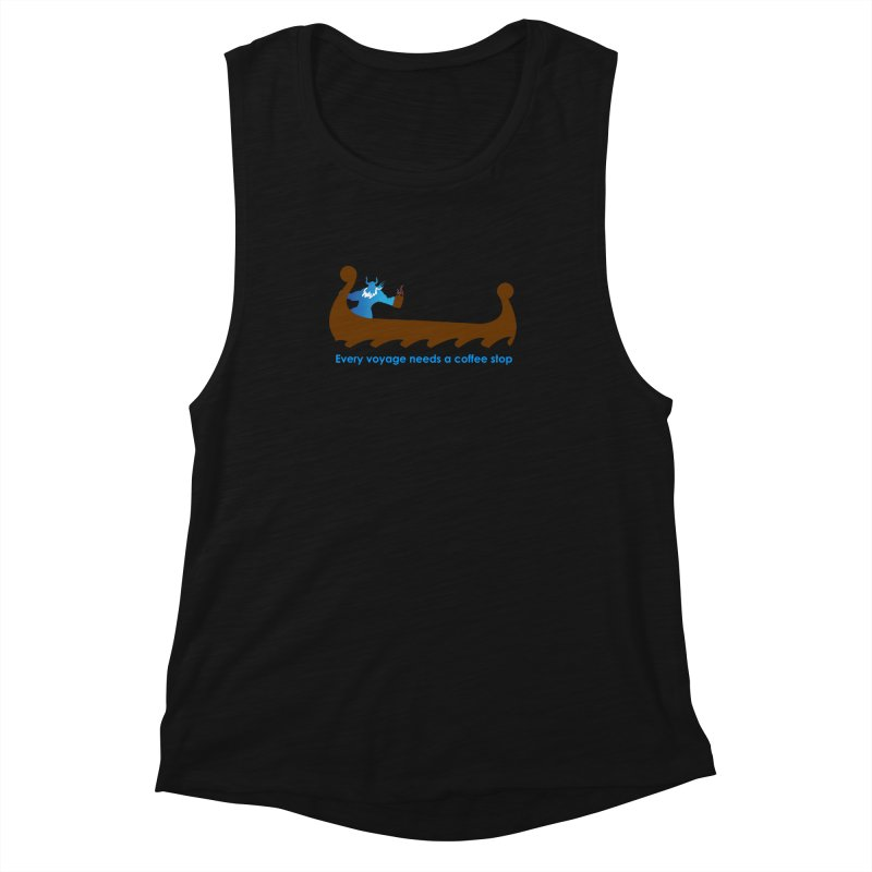 Coffee Voyage - In Color Women's Muscle Tank by Pure Coffee Blog Shop