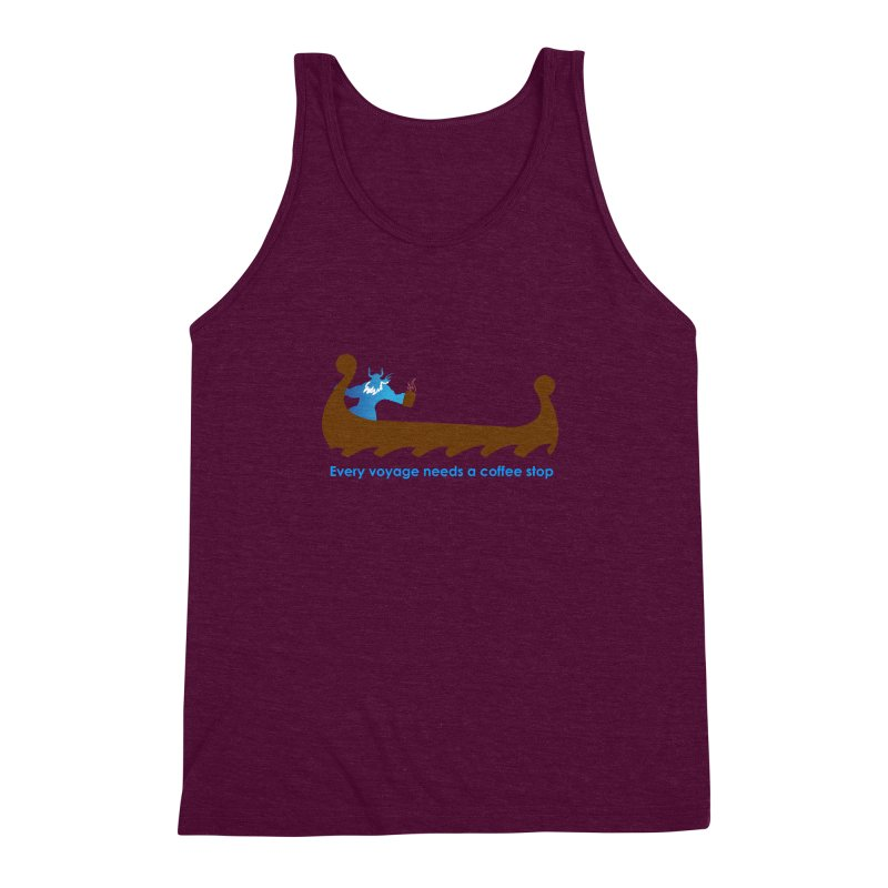 Coffee Voyage - In Color Men's Triblend Tank by Pure Coffee Blog Shop