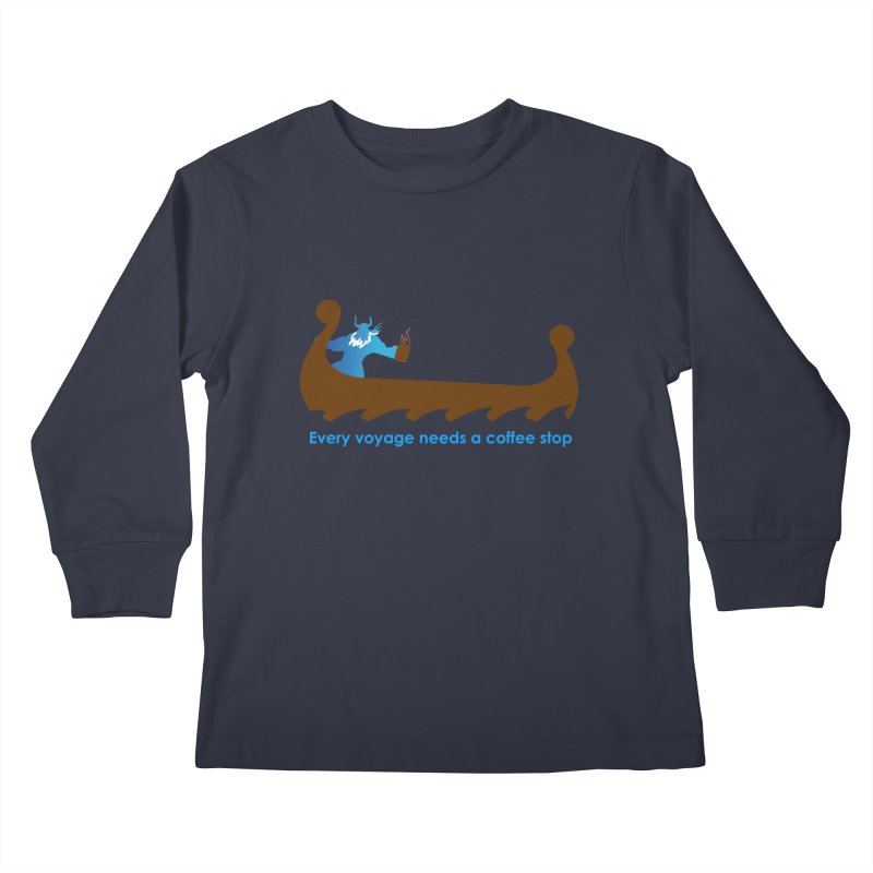 Coffee Voyage - In Color Kids Longsleeve T-Shirt by Pure Coffee Blog Shop