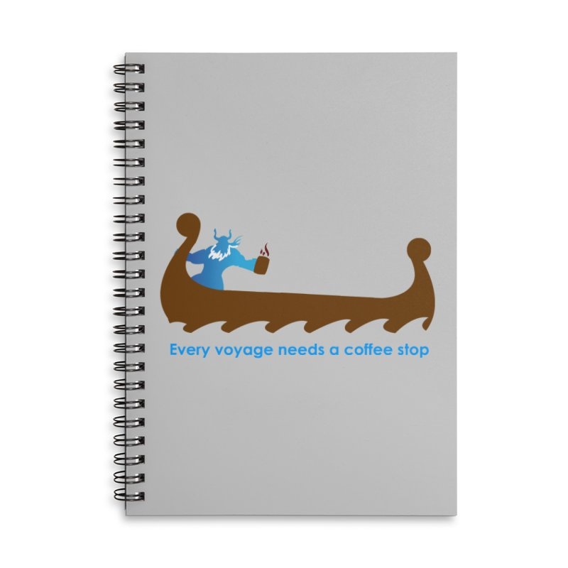 Coffee Voyage - In Color Accessories Lined Spiral Notebook by Pure Coffee Blog Shop