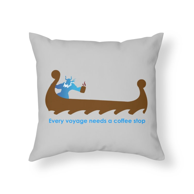 Coffee Voyage - In Color Home Throw Pillow by Pure Coffee Blog Shop