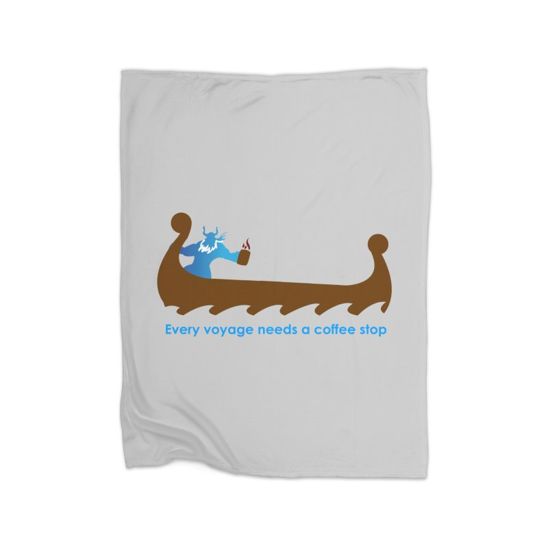 Coffee Voyage - In Color Home Blanket by Pure Coffee Blog Shop