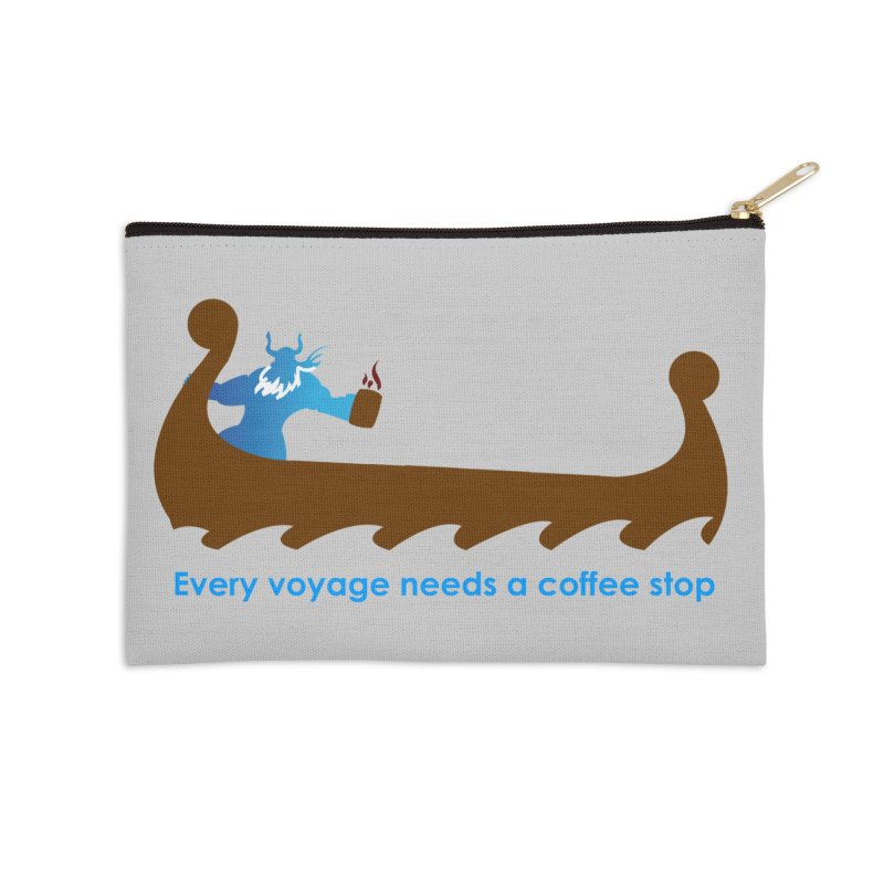 Coffee Voyage - In Color Accessories Zip Pouch by Pure Coffee Blog Shop