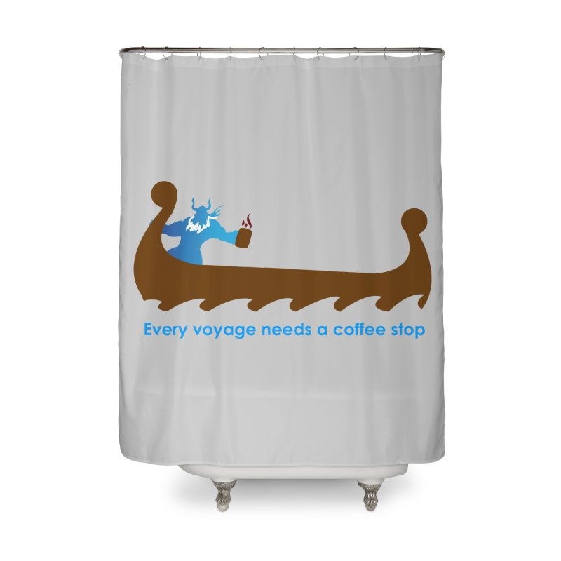 Coffee Voyage - In Color Home Shower Curtain by Pure Coffee Blog Shop