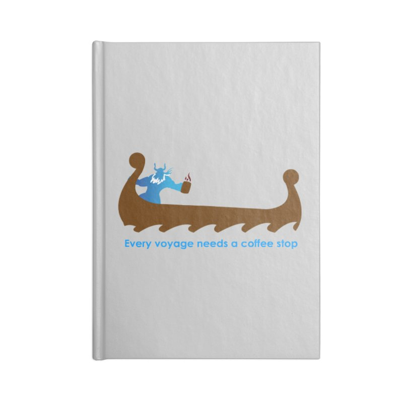 Coffee Voyage - In Color Accessories Blank Journal Notebook by Pure Coffee Blog Shop