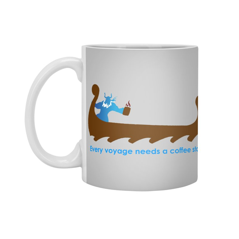 Coffee Voyage - In Color Accessories Standard Mug by Pure Coffee Blog Shop